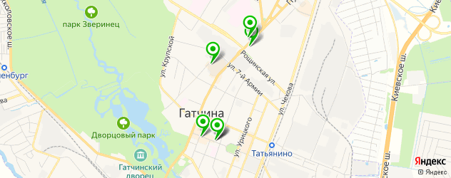 суши-бары на карте Гатчины