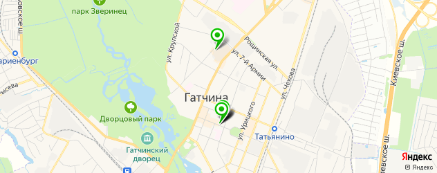 пиццерии на карте Гатчины