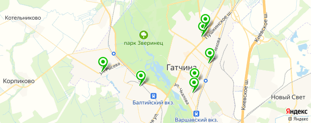 прачечные на карте Гатчины