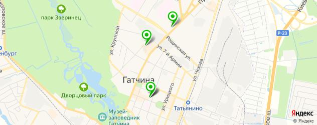 Доставка роллов на карте Гатчины