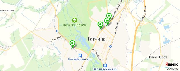кальянные на карте Гатчины