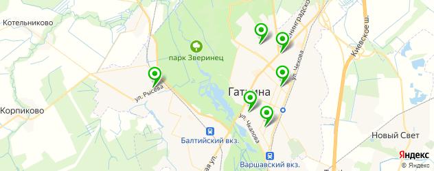 бани на карте Гатчины
