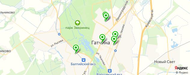фитнес-клубы на карте Гатчины