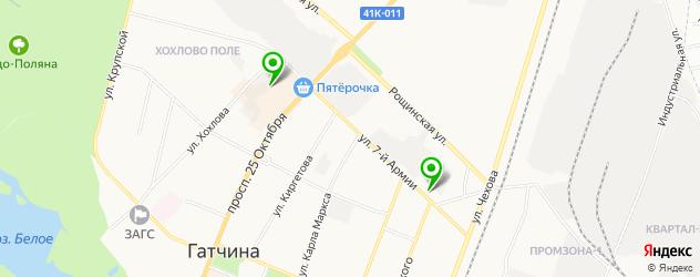 букмекерские конторы на карте Гатчины