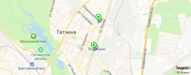 автосалоны на карте Гатчины