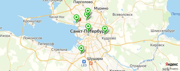 английские детские сады на карте Санкт-Петербурга