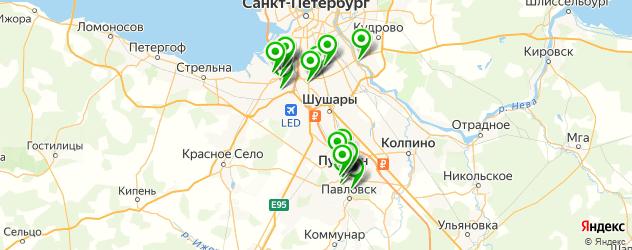 школы танцев на карте Пушкина