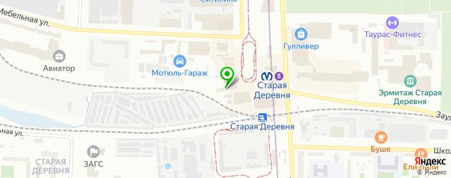 колумбарии на карте Санкт-Петербурга