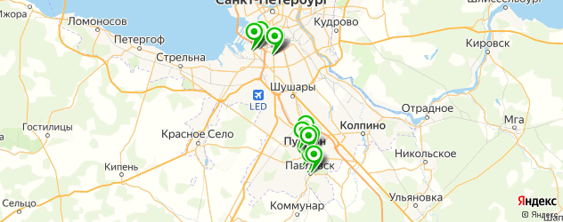 реабилитационные центры на карте Пушкина