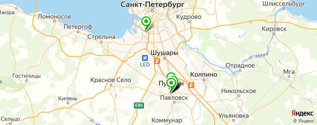 санатории на карте Пушкина
