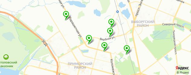 химчистка пуховиков на карте Коломяг