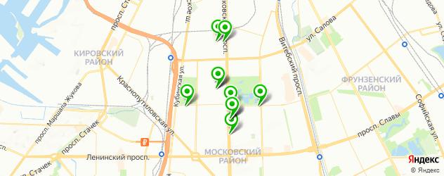 детский день рождения на карте метро Парк Победы