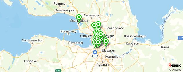 восточные кафе на карте Санкт-Петербурга