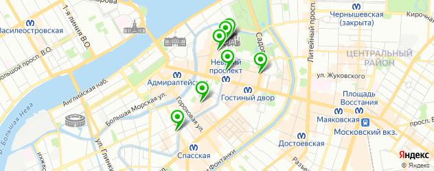 квесты на карте метро Адмиралтейская