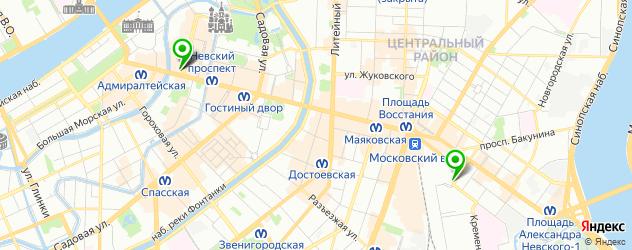 позные на карте Санкт-Петербурга