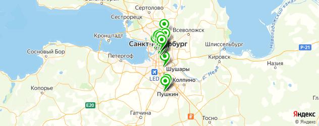 институты на карте Санкт-Петербурга