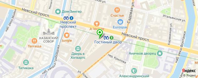 балетные училища на карте Санкт-Петербурга