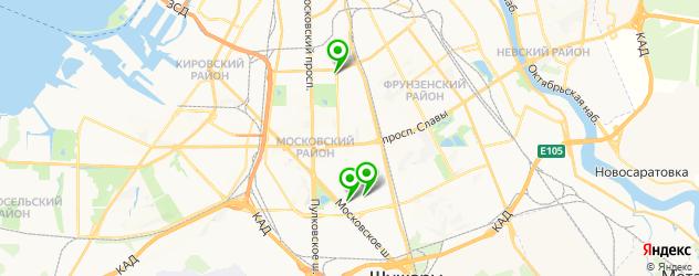 анализы на дому на карте Московского района