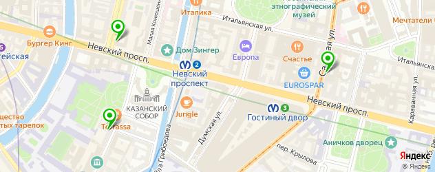 центры профориентации на карте Апраксина двор
