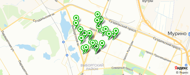 медицинские центры на карте метро Проспект Просвещения
