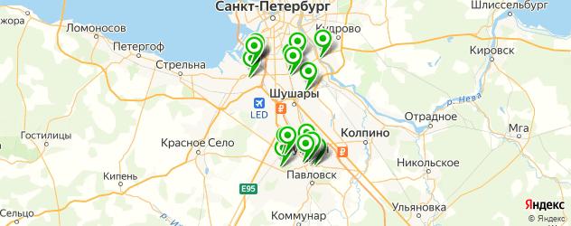 сауны на карте Пушкина