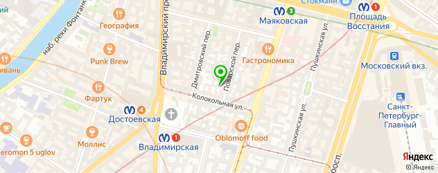 планетарии на карте метро Пушкинская