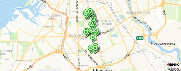 автосервисы на карте округа Гагаринское