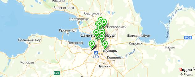 детские больницы на карте Санкт-Петербурга