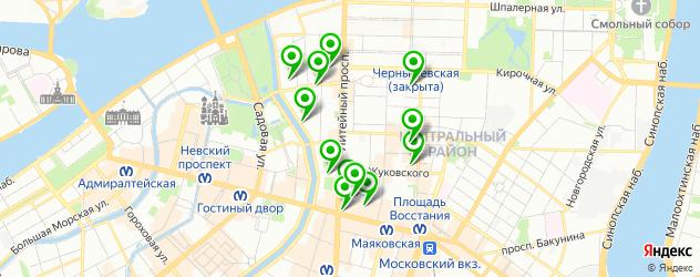 картинные галереи на карте Литейного округа