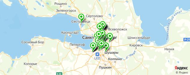 больницы на карте Санкт-Петербурга