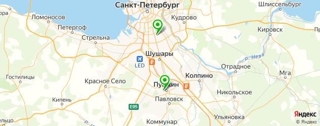 травмпункты на карте Пушкина