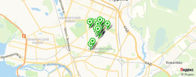 парикмахерские на карте округа Академическое