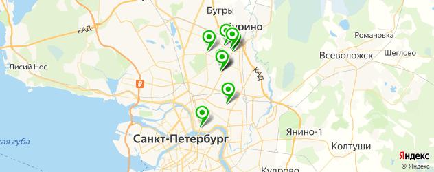 ремонт очков на карте Калининского района