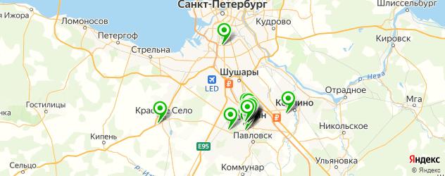 спорты-бары на карте Пушкина