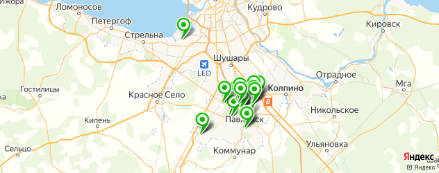 школы на карте Пушкина