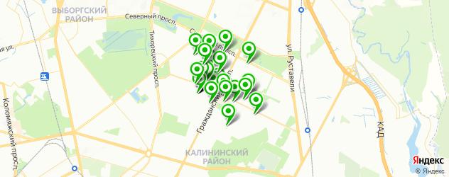 парикмахерские на карте метро Академическая