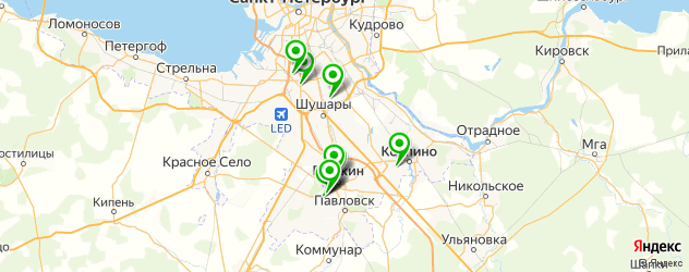 бары с танцполом на карте Пушкина