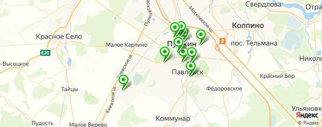 отделения Почты России на карте Пушкина