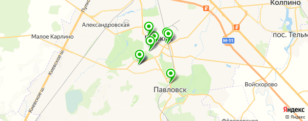кафе с живой музыкой на карте Пушкина