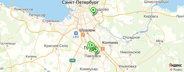 итальянские рестораны на карте Пушкина