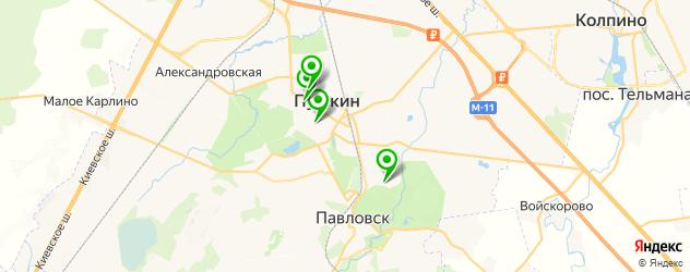 японские рестораны на карте Пушкина