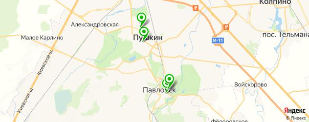 культурные центры на карте Пушкина