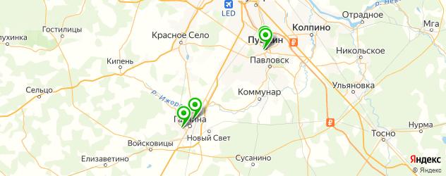 кинотеатры на карте Пушкина