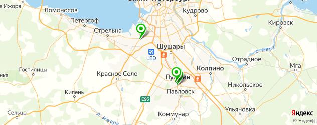 театры на карте Пушкина