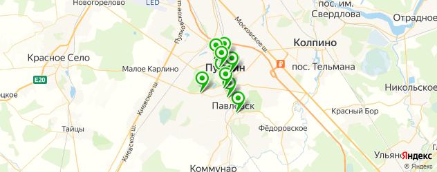 обменные пункты на карте Пушкина