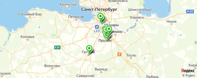 пиццерии на карте Пушкина