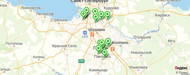 спортивные секции на карте Пушкина