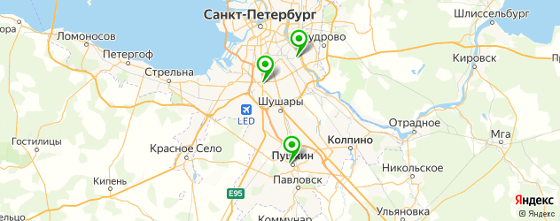 грузинские рестораны на карте Пушкина