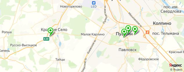 столовые на карте Пушкина