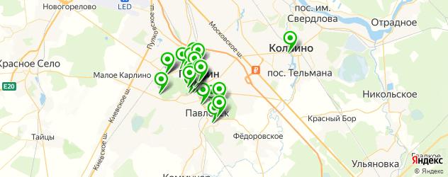рестораны для свадьбы на карте Пушкина
